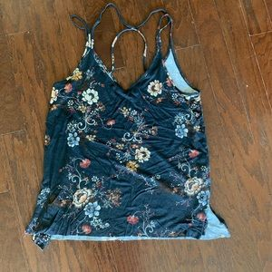 American Eagle Floral Strappy Tank Top